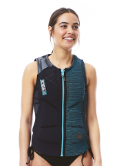 Comp Vest Zipper Women Black JOBE
